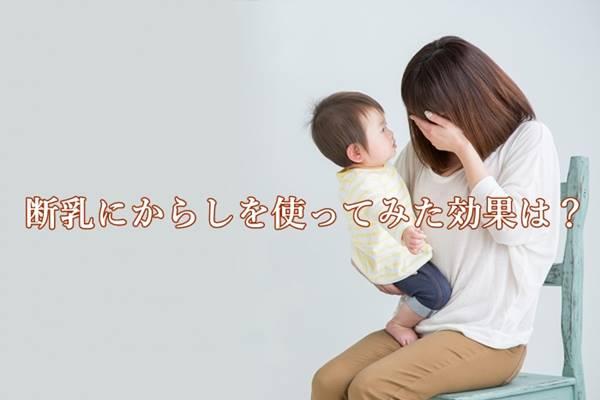 断乳にからしやわさびは効果的?卒乳にからしを使った体験談【1歳10か月】