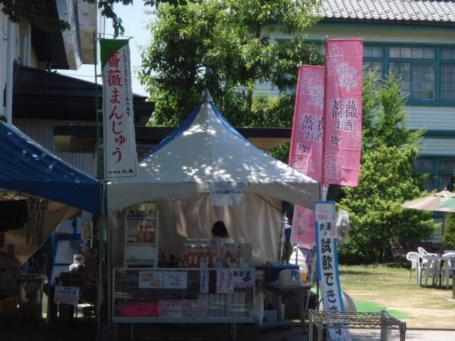 中野バラ祭り屋台
